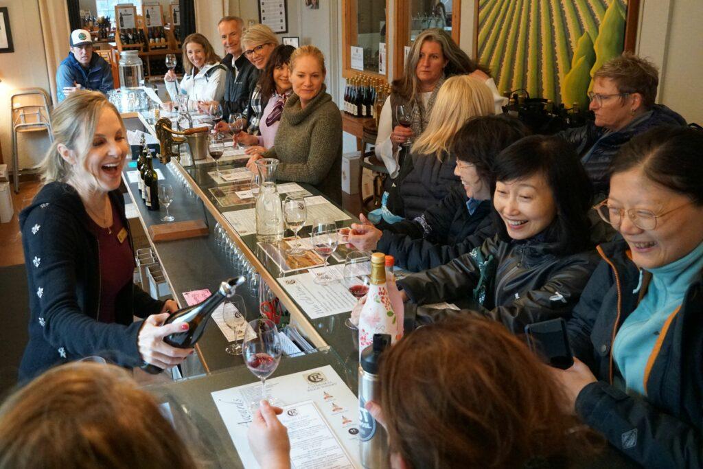 Wine tasting in Hood River, Oregon